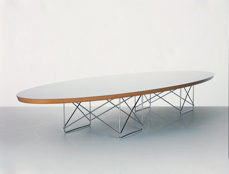 table Elliptical blanche