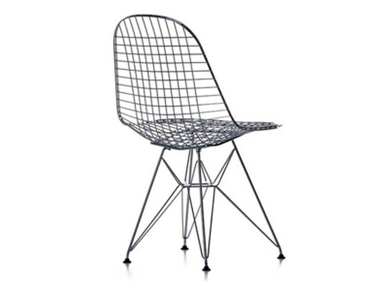 Chaise dkr wire de eames catalogue conseil am nagement et for Chaise transparente habitat