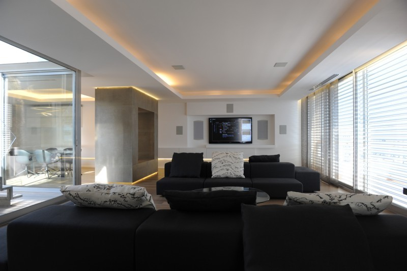 Am nagement design et contemporain appartement d - Amenagement interieur design contemporain ...