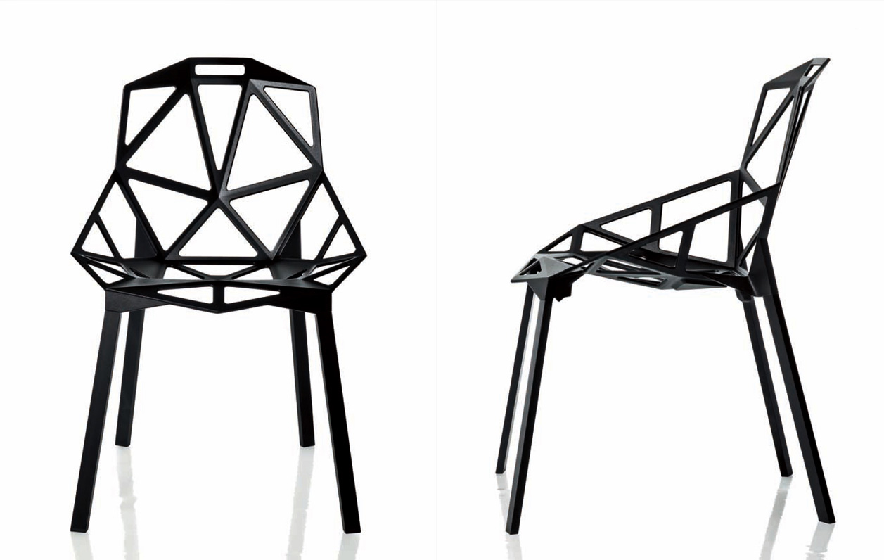 chaise chair one de konstantin grcic catalogue conseil am nagement et mobilier contemporain. Black Bedroom Furniture Sets. Home Design Ideas